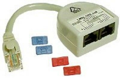 Access Communication CAT5 SPLITTER ACCP2313 Voice To Voice, Ash*Australian Brand