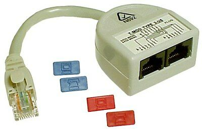 Access Communication CAT5 Y-ADAPTOR ACCP2315 Data + Data, Ash *Australian Brand