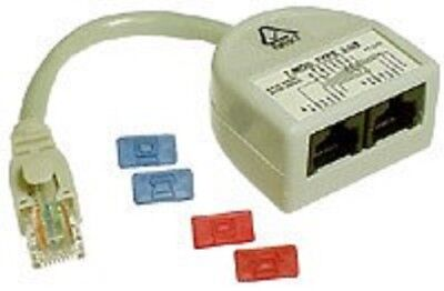 Access Communication CAT5 Y-ADAPTOR ACCP2314 Voice + Data, Ash *Australian Brand