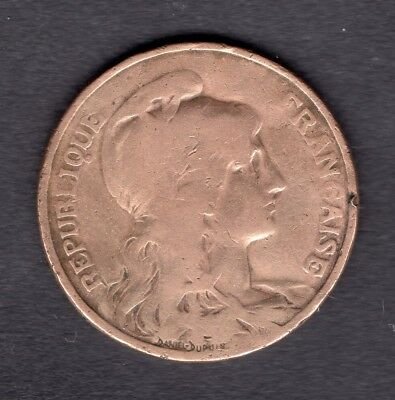 France 10 Cts 1899 Type Dupuis Bronze