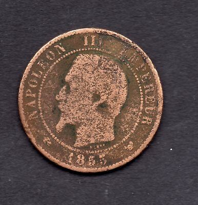 France 10 Centimes Napoleon Iii 1855 W