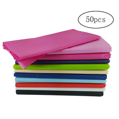 50pcs Wrapping Tissue Paper Rainbow for Art Craft Gift Wrapping Assorted Color