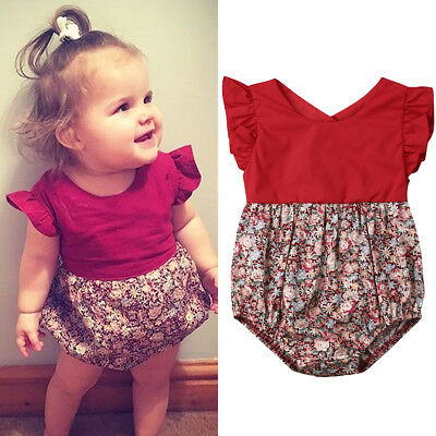 Newborn Baby Girl Clothes Backless Jumpsuit Romper Bodysuit Casual Outfit Set