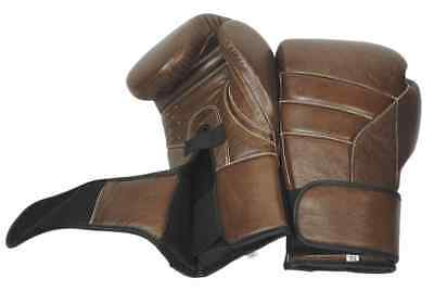 Boxing Gloves Vintage Leather T3 Kanpeki Hook and Loop Full Grain Leather
