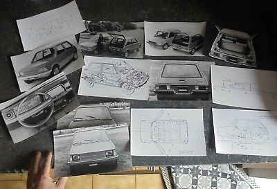 Anciennes Photos de Presse MINI INNOCENTI BERTONE 90 & 120 dont Plans