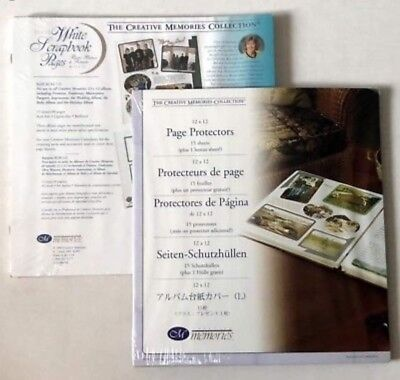 Creative Memories 12x12 White Pages and Page Protectors Brand New