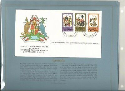 1977 Commonwealth Collection Silver Jubilee Elizabeth II First Day Cover Album