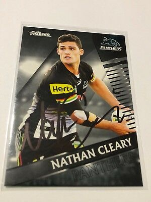 2018 NRL TRADERS Signed Common Card - Nathan Cleary - Penrith Panthers