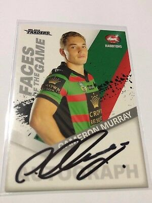 2018 NRL TRADERS Signed Faces Of The Game - Cameron Murray - South Sydney