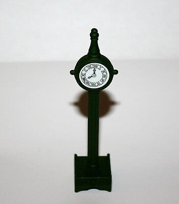Department 56 Snow Village Town Clock Handpainted Metal Accessory