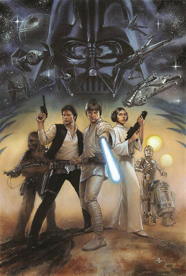 Star Wars HD Canvas Prints Painting Home Room Decor Picture Wall art 12x18inch