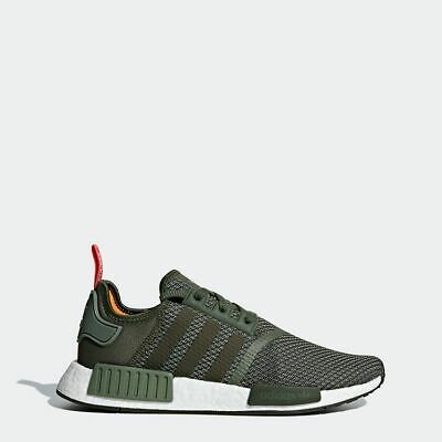ADIDAS NMD R1 Boost Olive Green Mens Sneakers B37620 New