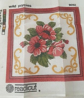 Tapestry Canvas - Readicut - Poppies New
