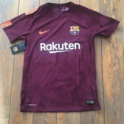 NIKE FC BARCELONE AEROSWIFT THIRD VAPOR AUTHENTIC M RAYE BORDEAUX Neuf