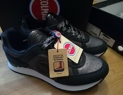 NUOVE N°40 SCARPA SHOES COLMAR DONNA SNEAKER TRAVIS PUNK 125 BLACK ... 7ea4767692f