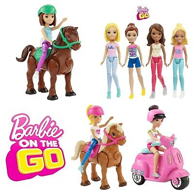 Barbie On The Go Motorized Pony Scooter Vespa Small Flexible Doll Assortment