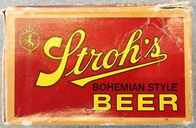 Vintage Stroh's Bohemian Style Beer Playing Cards-Two Decks-Made in U.S.A.