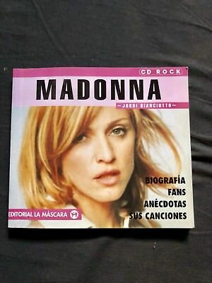 Madonna Biografia Biography Book Spanish Ray Of Light Erotica Rare Collectors