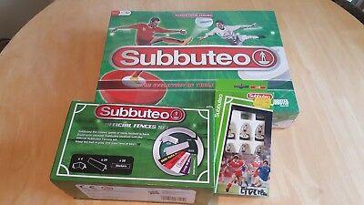 Subbuteo Table Football Set with extra team and pitch hoarding