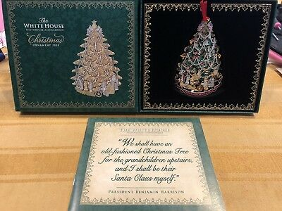 The White House Historical Assn Christmas Ornament 2008 In Original Box w/Papers