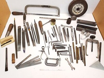 Large Assorted Lot of Miscellaneous Tools & Parts From a Machinist Tool Box C2