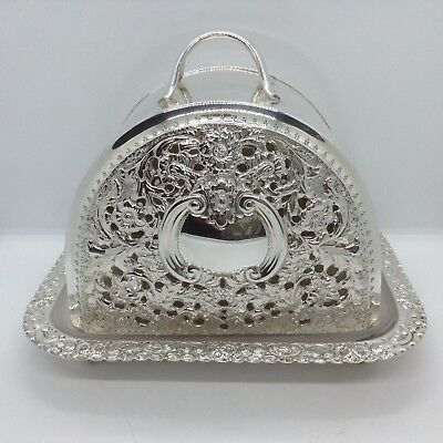 Antique Silver Plated Thomas Latham & Ernest Morton c1890 Cheese Dome/Food Cover