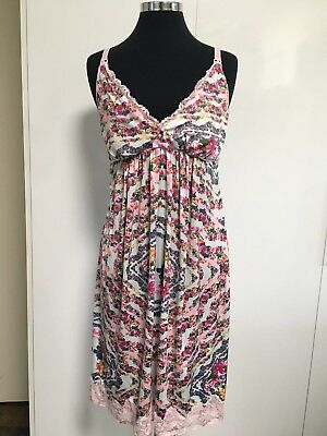 Peter Alexander Floral/Lace Maternity Nightie Size Large EUC