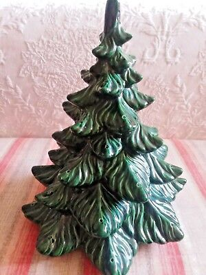 Vintage Green Ceramic Christmas Tree TOP ONLY NO BASE