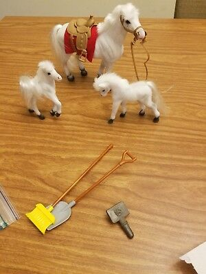 1990s? Flocked Toy Horse Lot
