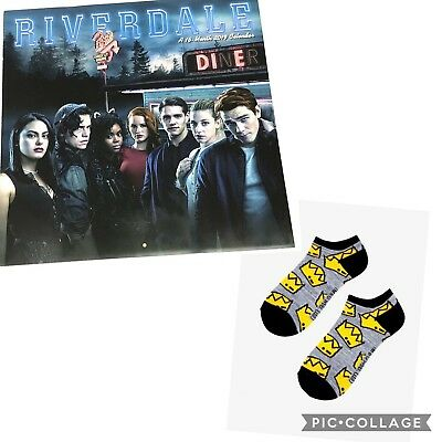 2019 Riverdale Wall Calendar 16 Month Archie Betty with Jughead Socks One Size