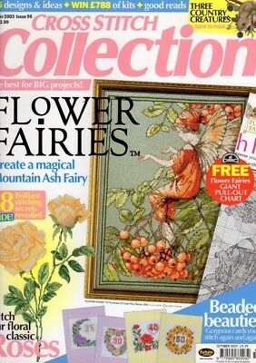 CROSS STITCH COLLECTION MAGAZINE Oct 2003 Flower Fairies Mountain Ash Fairy