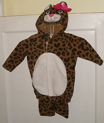 Old Navy Baby Toddler Girl Leopard Halloween Costume 12 - 24 Month Used 2 Pc