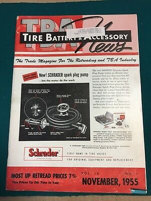 Vintage Tire,Battery&Accessory News trade magazine 1955 advertising/gas station