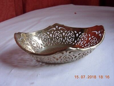 Sterling silver trinket bonbon dish hallmarked delicate incredibly sweet piece