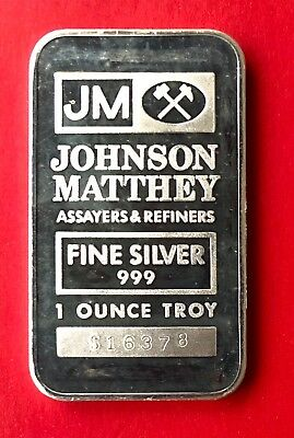 Johnson Matthey 1oz .999 Fine Silver Bar - Sooter Studios - 1st Style - Toned