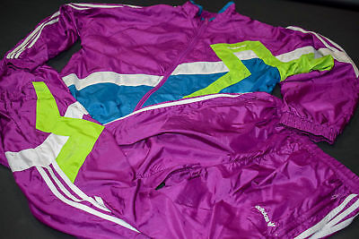 Adidas Trainings Anzug Jogging Track Jump Shell Suit Vintage Casual Nylon 90s M