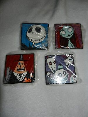 Nightmare Before Christmas Disney Burton Ceramic Coaster Set Jack Sally Original