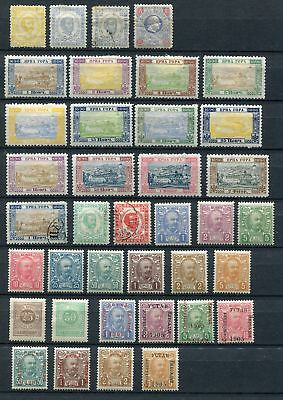 Montenegero 1896 start - 1902/1906 collection of 38 mint hinge, used stamps.