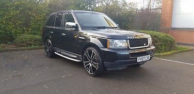 "Stunning Range Rover Sport 2.7L Diesel Tdv6 Se Black With Fsh And 22"" Wheels"
