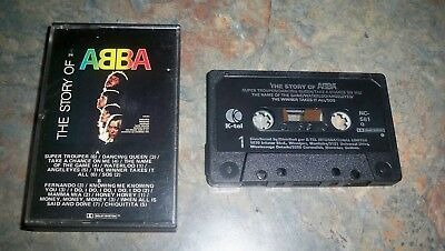 The Story Of Abba K-Tel     Vintage Audio Tape Cassette