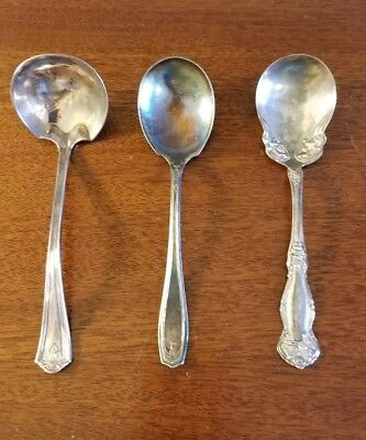 Lot of 3 Antique Roger's Serving Spoons Ladles Silverware