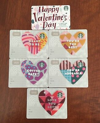 New!!! 2019 Starbucks Valentines Day Gift Card Set - Die Cut/key Chain + Reg