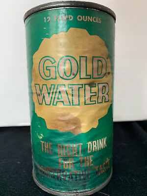 1964 Gold Water Soda Pop Flat Top 12 oz. Can Barry Goldwater Election Campaign
