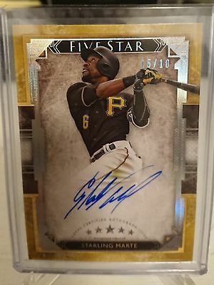 2018 Topps Five Star STARLING MARTE Auto Gold parallel #5/10 Pirates RARE $