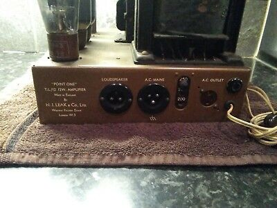 Leak TL 12.1 point one valve amplifier for restoration