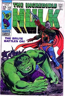Incredible Hulk 112 Silver age * 1 Book Lot * Marvel Comics! 1960-70s! Avengers!
