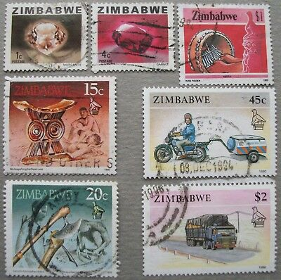 ZIMBABWE. Different used stamps.