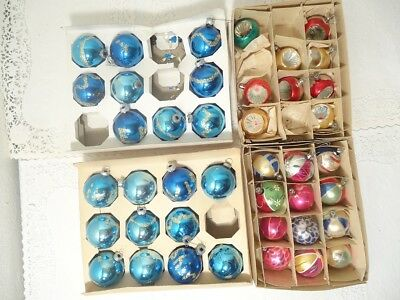Lot of 41 Vintage Christmas Ornaments Shiny Bright Santa Land NO RESERVE
