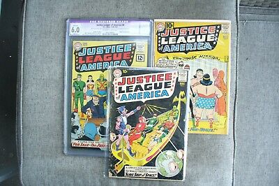 Justice League Issue #3 #7 #8 Silver Age Lot .99 Cent Starting Bid