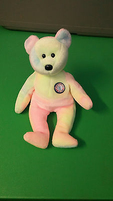 TY BB BEAR the Birthday Bear Beanie Baby Retired -  10.00  b62195578b3